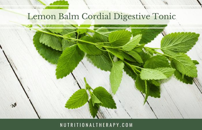 Recipe: Lemon Balm Cordial Digestive Tonic