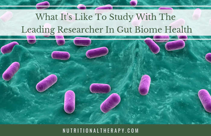 What it's like to study with the leading researcher in gut biome health