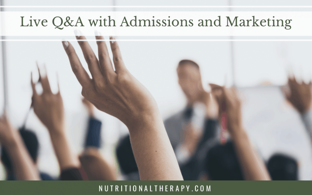 Live Q&A with Admissions and Marketing