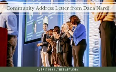Community Engagement Letter from Dana Nardi