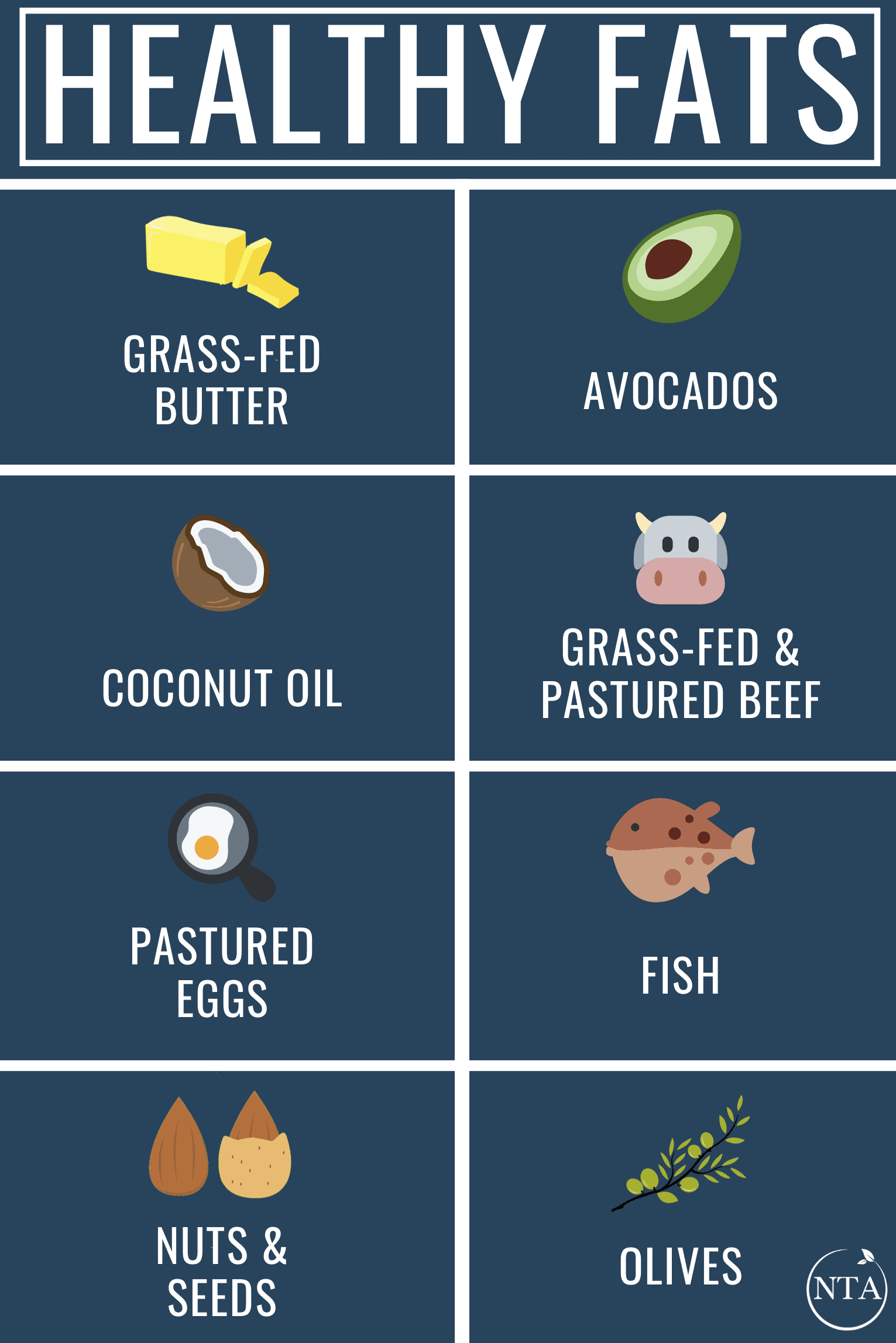 Healthy Fats Infographic