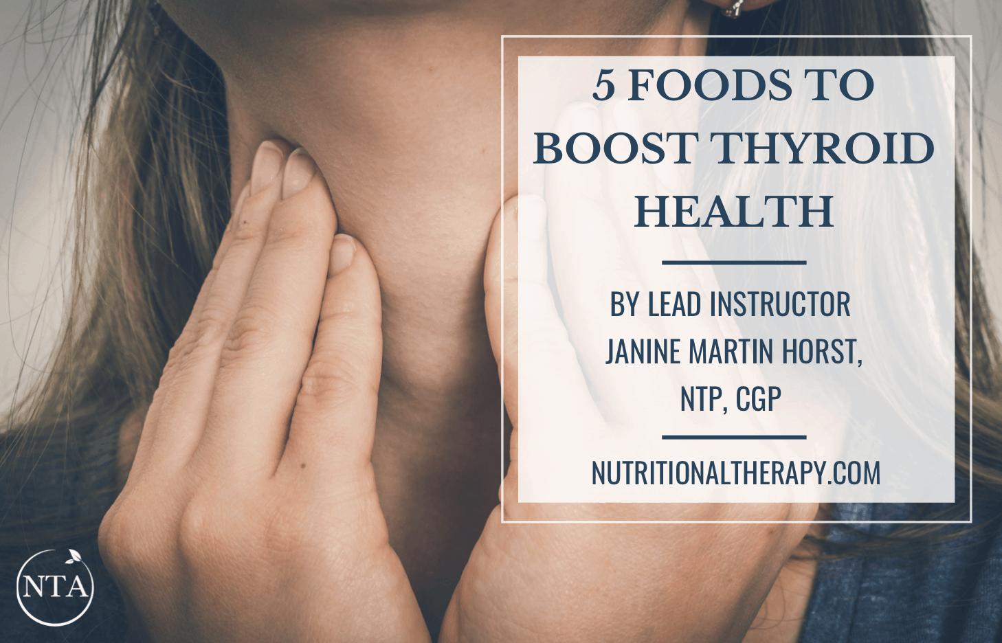 5 Foods For Thyroid Health