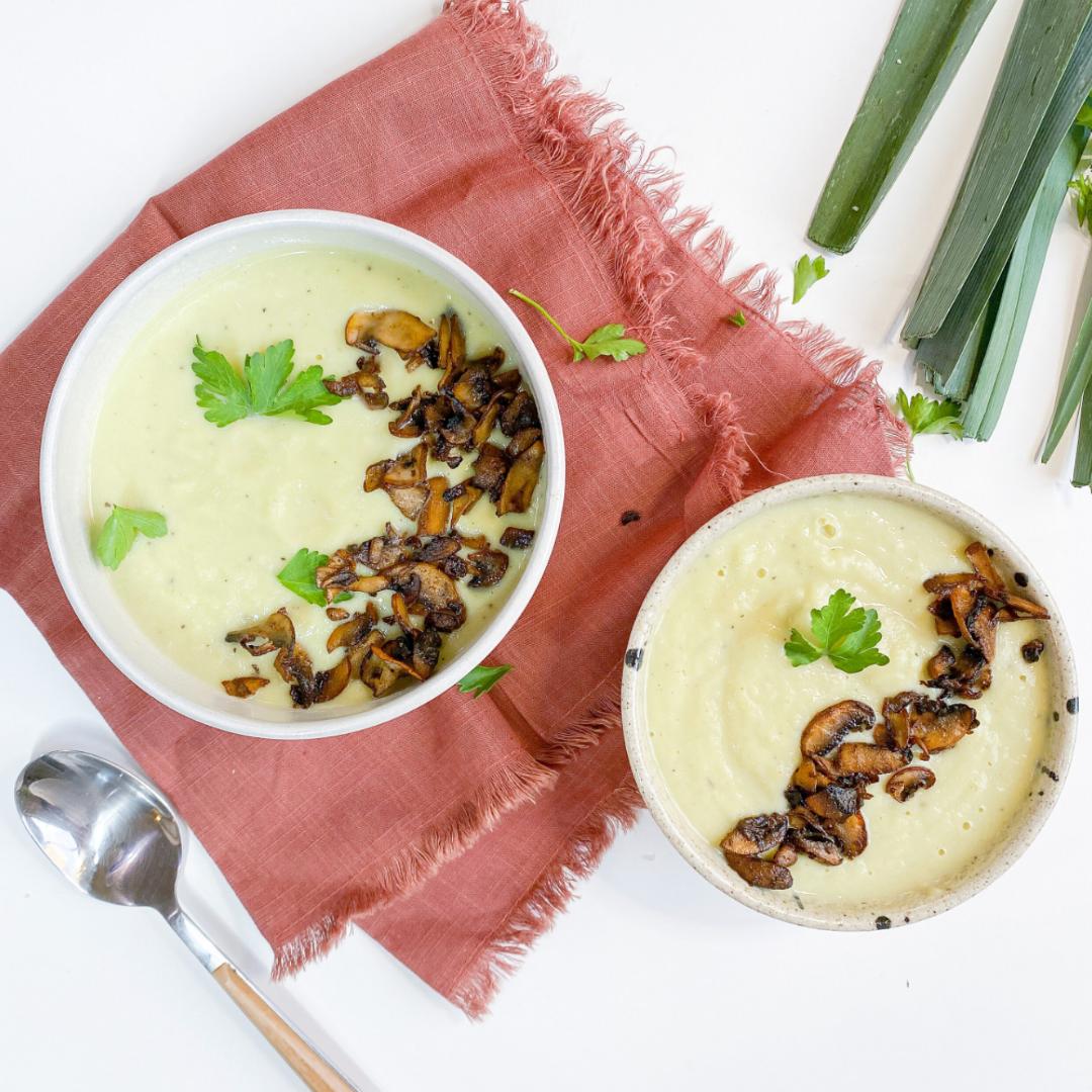 Delicious and Therapeutic Leek Cauliflower Soup  https://www.mariucabral.com/en/blog/delicious-and-therapeutic-leek-cauliflower-soup-recipe
