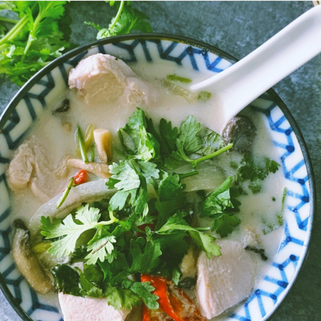 Tom-kha-gai Thai Coconut Chicken Soup
