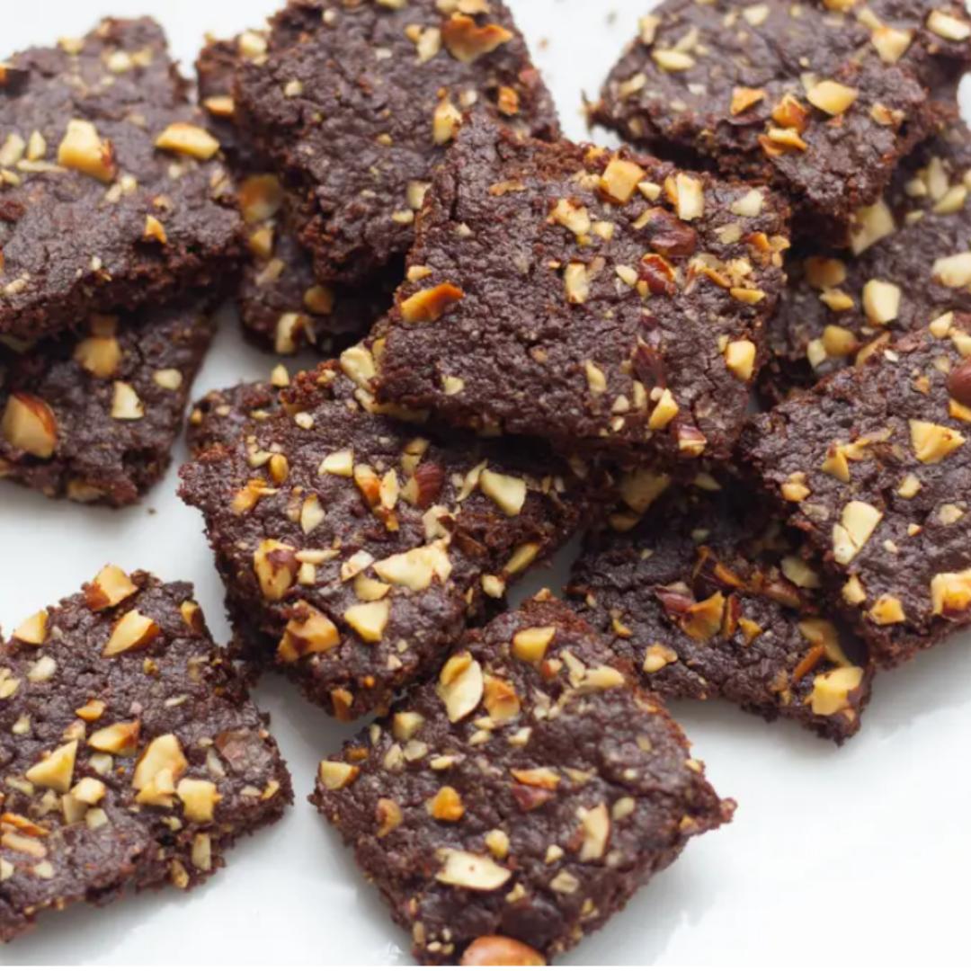 Crispy Chocolate Hazelnut Cookies